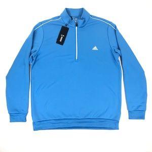 Adidas Mens Golf 3 Stripes 1/4 Zip Sweater